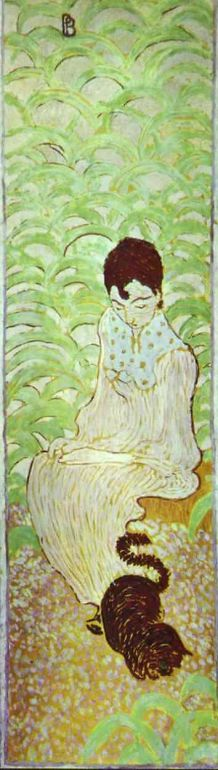 Sitting Woman with a Cat