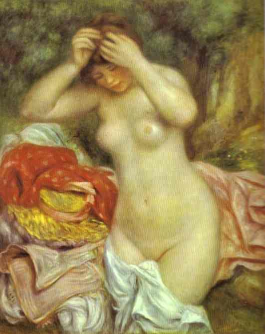 Bather Arranging Her Hair