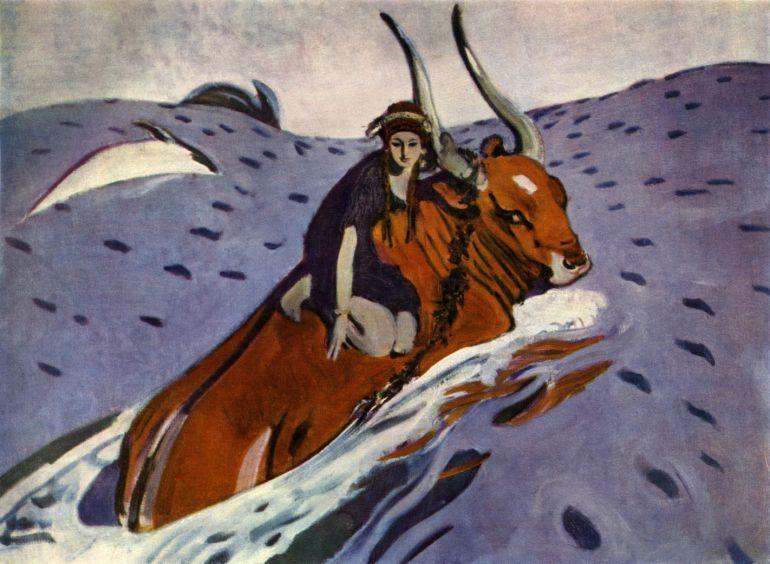 Ответы@Mail.Ru: Какой греческий бог изображён в виде быка на…